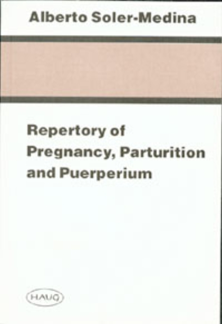 Repertory of Pregnancy, Parturition and Puerperium
