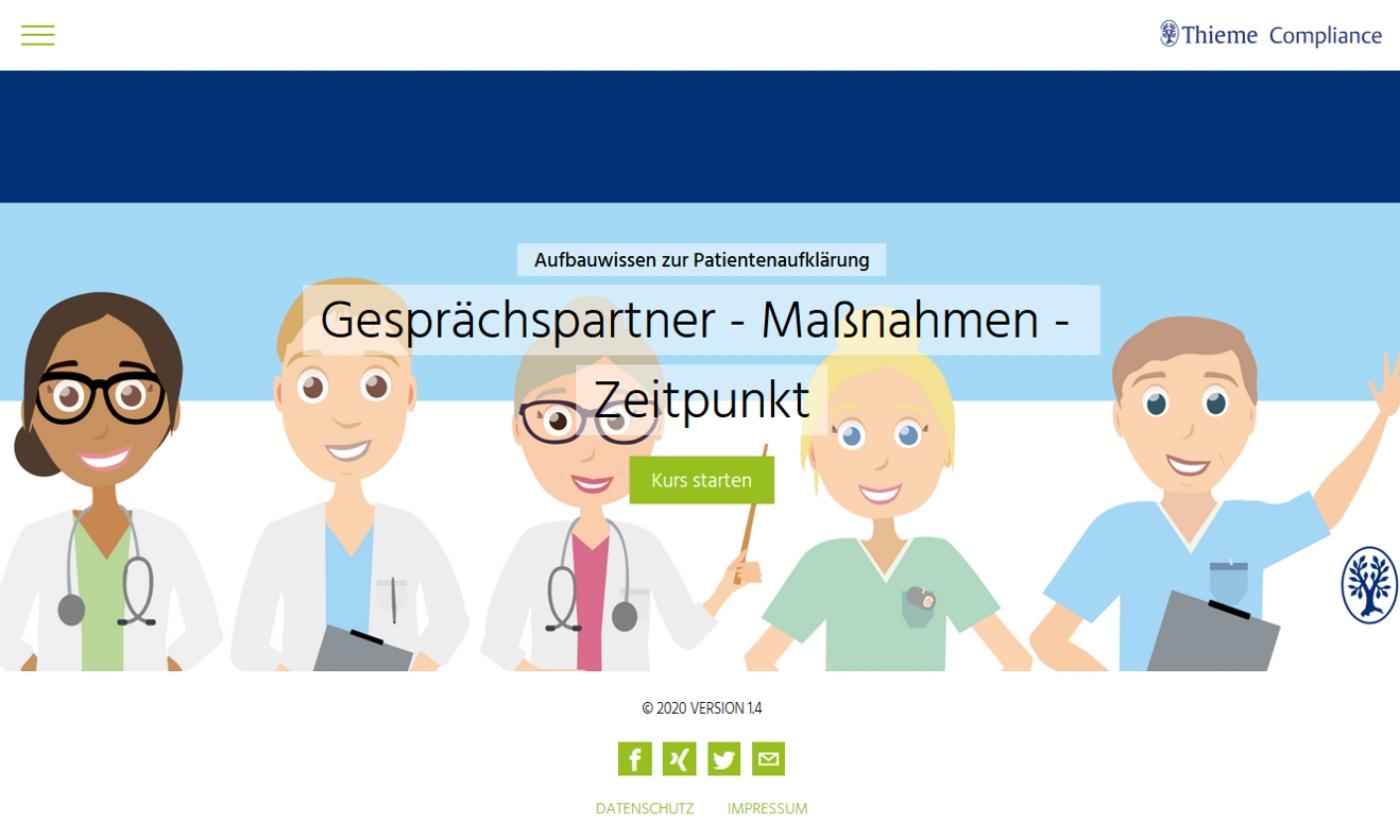 Aufbauwissen zur Patientenaufklärung: Gesprächspartner - Maßnahmen - Zeitpunkt