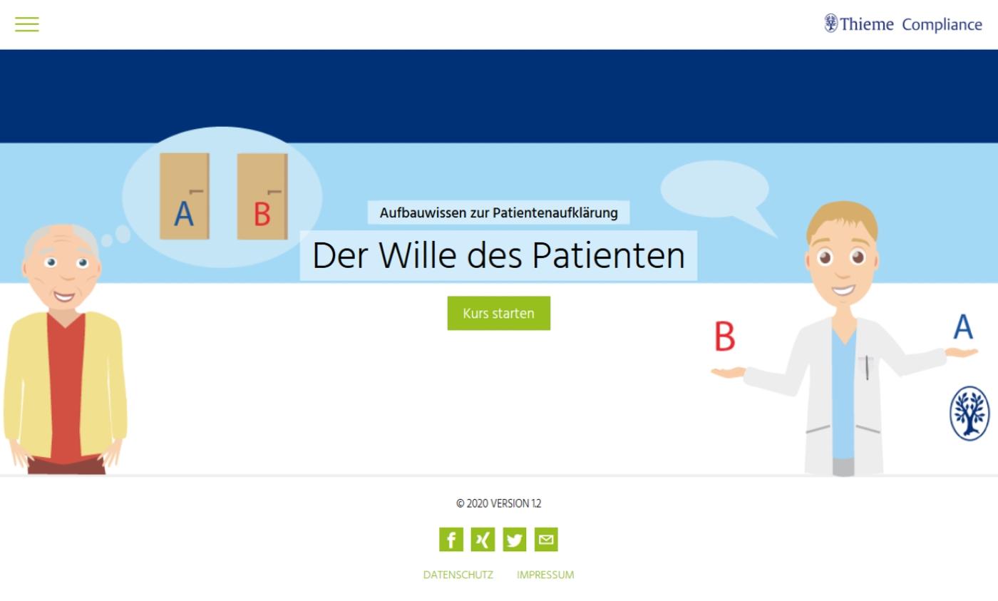 Aufbauwissen zur Patientenaufklärung: Der Wille des Patienten