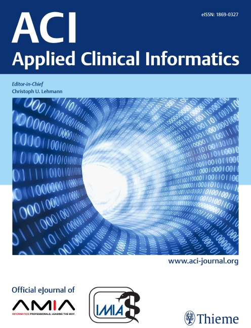 ACI  Applied Clinical Informatics