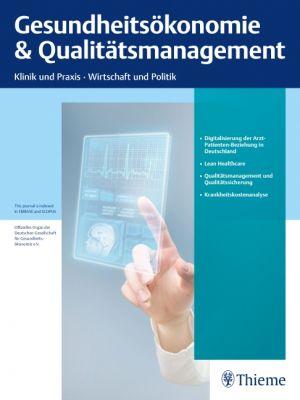 Gesundheitsökonomie & Qualitätsmanagement
