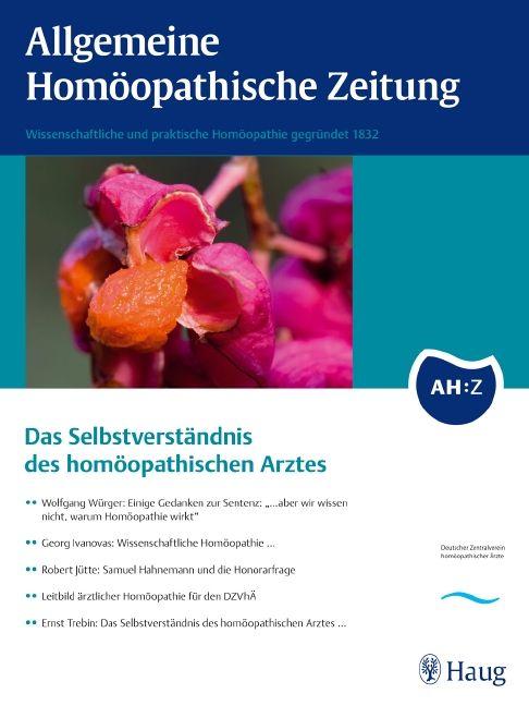 AHZ  Allgemeine Homöopathische Zeitung